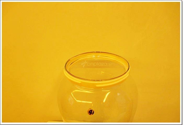 Đường kính miệng bình rộng 19.5 cm