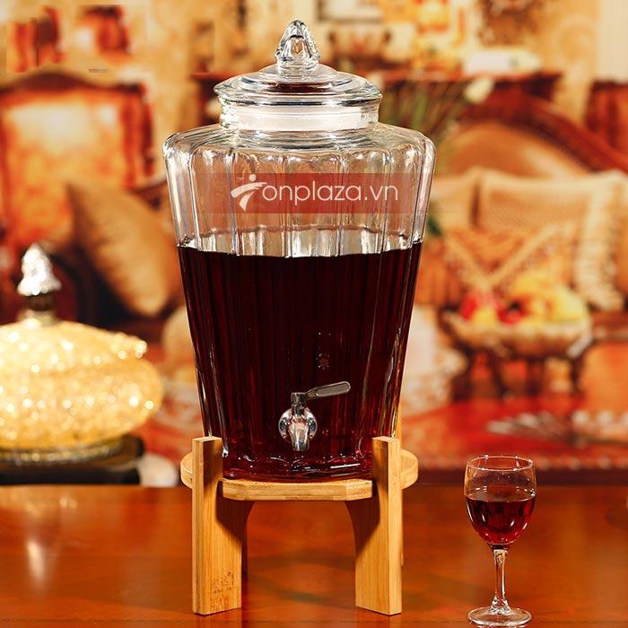 bình thủy tinh ngâm rượu
